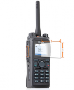 Hytera Two Way Radios PD782_782G Screen Dimensions