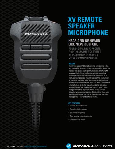 XV Remote Speaker Microphone